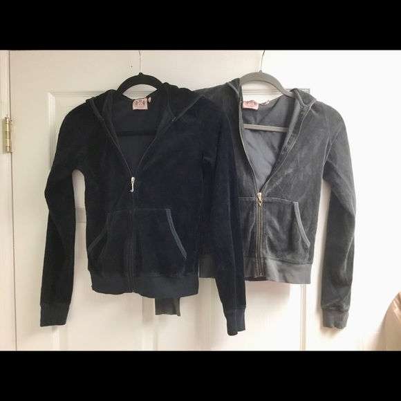 Juicy Couture Jackets & Blazers - 2 Juicy Couture velour hoodie jacket size S P